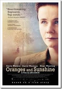 Film cover of the movie Oranges and Sunshine