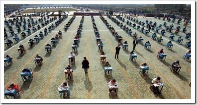 Children sitting in rows
