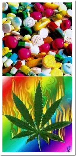 Pills and marijuana
