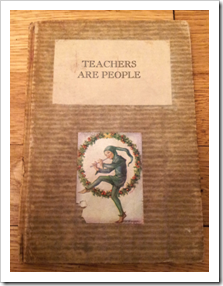 "A book with the title ""teachers are people"""