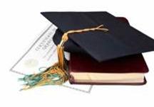 graduation certificate and cap