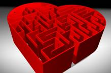 Heart-shaped maze