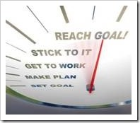 Set goal, make plan, get to work, stick to it, reach goal!