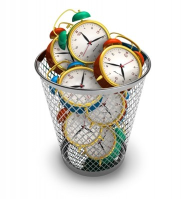Basket full of clocks