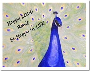 Happy 2014 from Ronit at Be Happy in LIFE