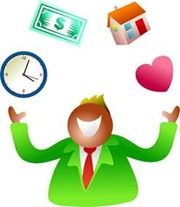 Husband juggling time, money, home and love