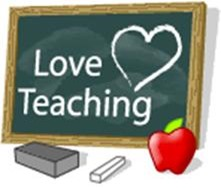 Love teaching written on a blackboard