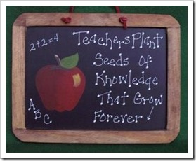 Teachers plant seends of knowledge that grow forever