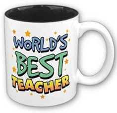 World' Best Teacher written on a cup