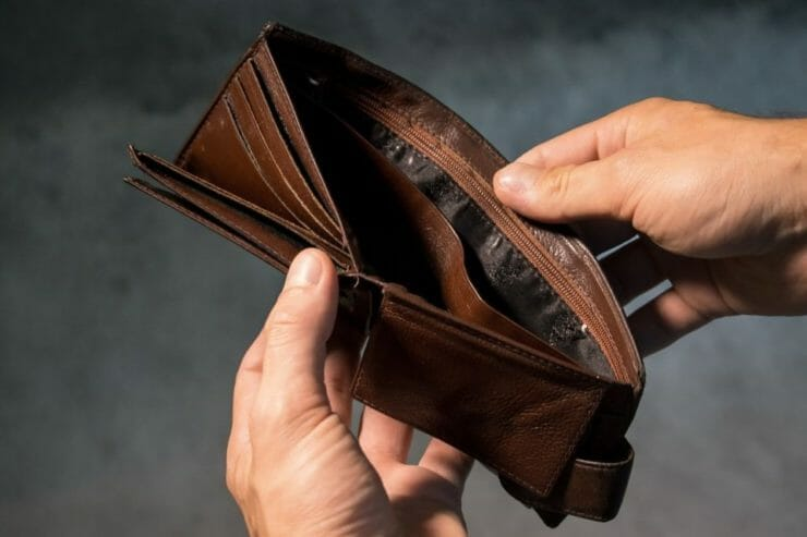 Empty wallet comes from negative thoughts about money