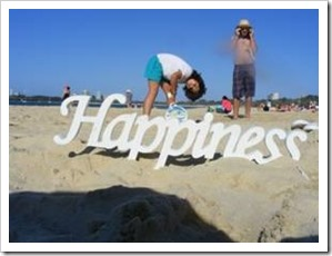 Happiness in the sand
