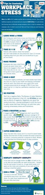 How to manage workplace stress infographic
