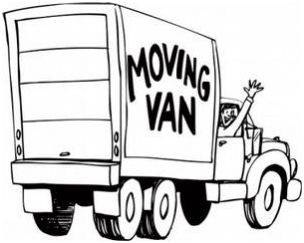Moving van: the movers are here