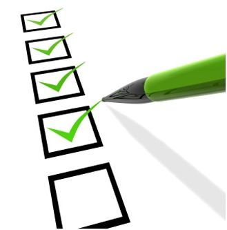 Checklist - good for moving house