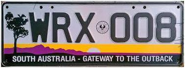 Australian License Plate
