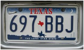 License Plate - makes for great road trip games