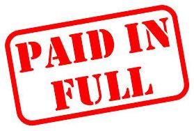 Paid in full - pay all your bills before moving