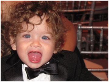 Baby in a tuxedo