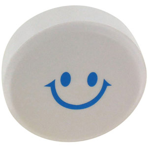 Pill with a smiley face on it