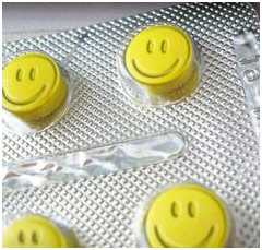Yellow smiley pill