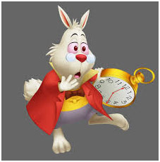 White rabbit and his watch