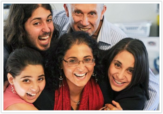 Ronit Baras and her family