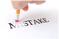 Rubbing out the word mistake - cannot be done with parenting mistakes