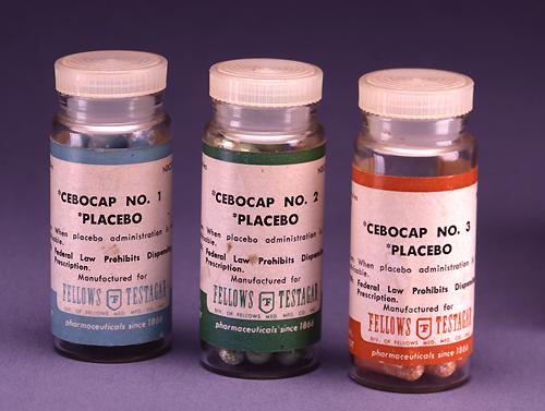 Bottles of placebo pills