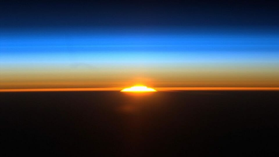 A lesson in perspective: sunrise from space