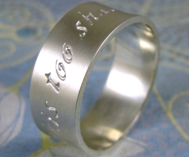 Ring with engraving This Too Shall Pass