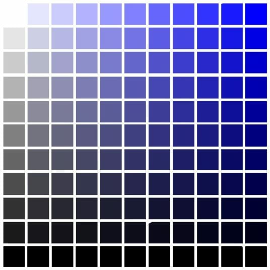 Blue Color Chart