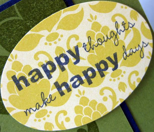 Happy thoughts make happy days badge