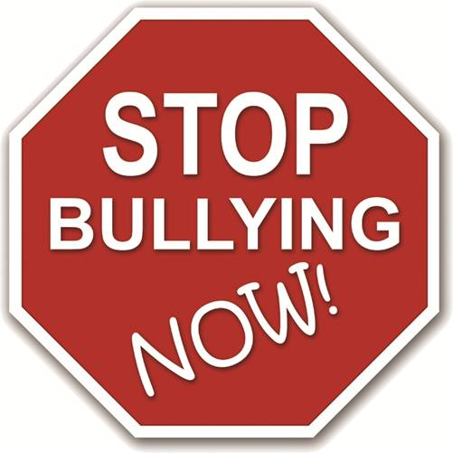 Stop Bullying Now! written on a stop sign