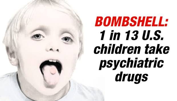 1 in 13 U.S. children take psychiatric drugs