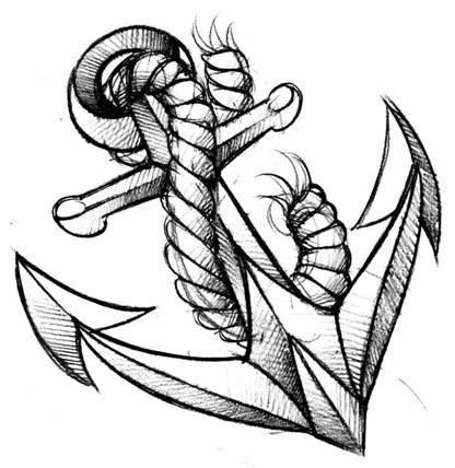 Drawing of an anchor