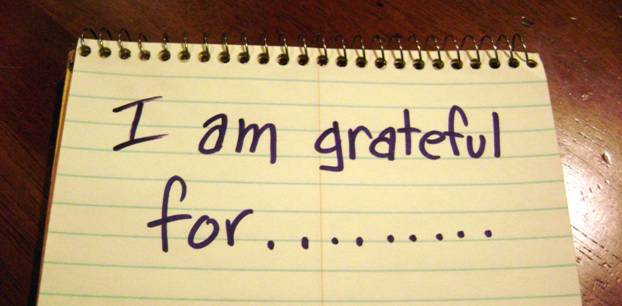 Notebook with I am grateful for...