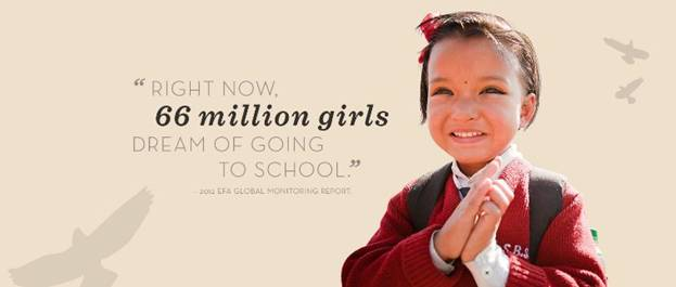 Right now, 66 million girls dream of going to school