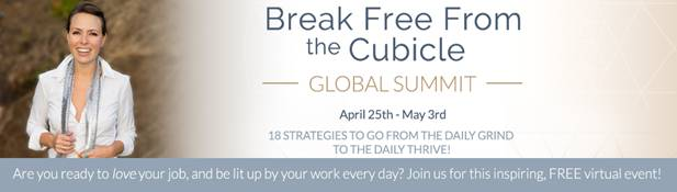 Notice for Break Free from the Cubicle, a free virtual event