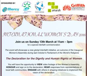 International Women's Day 2016 Invitation