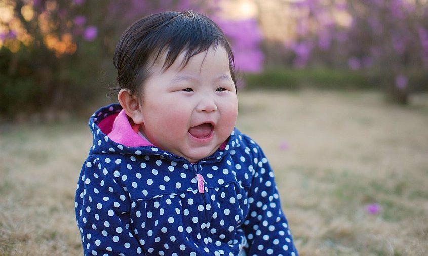 Chubby baby girl