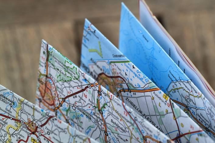 Folded road map