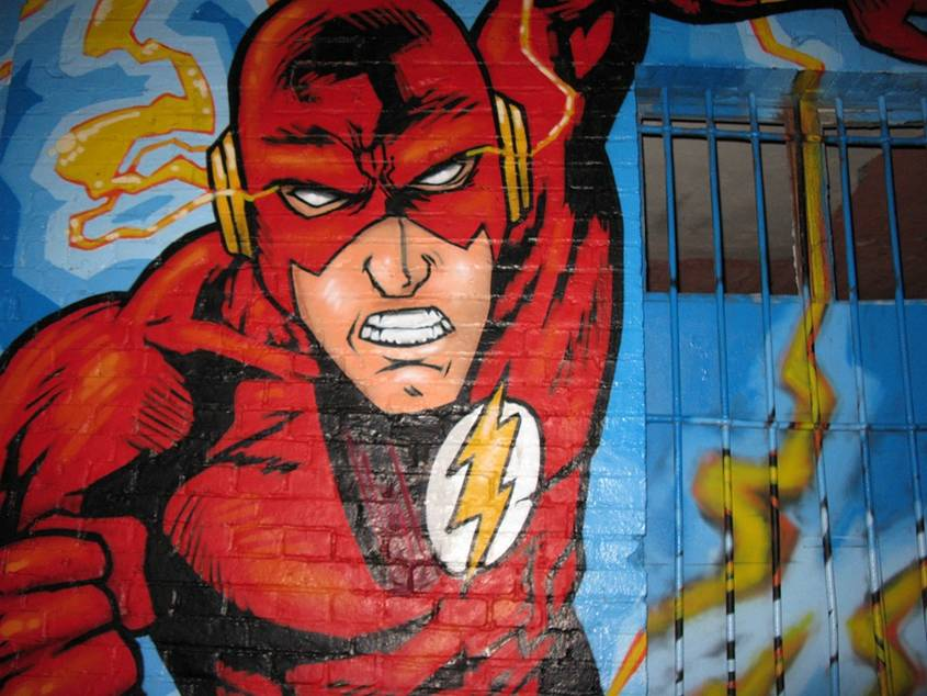 Graffiti of The Flash