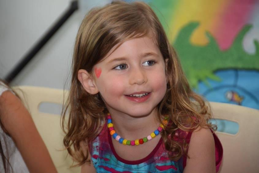 Little girl looking happy
