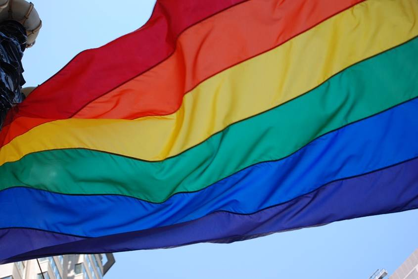 A colorful flag