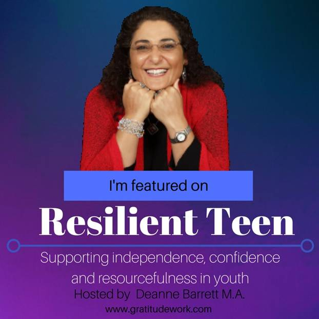 Ronit Baras featured at a resilient teen conference