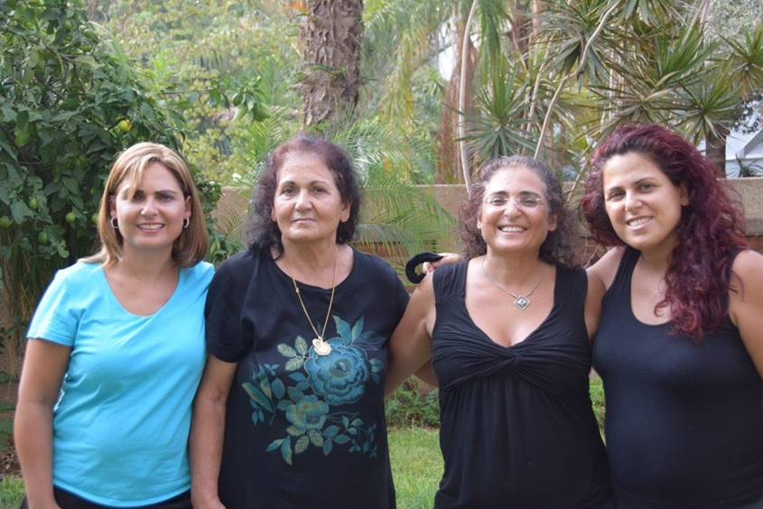 Ronit Baras with her mother and younger sisters