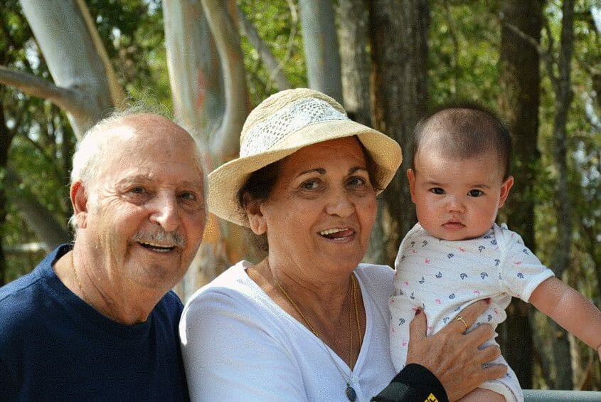 My parents and their great-granddaughter