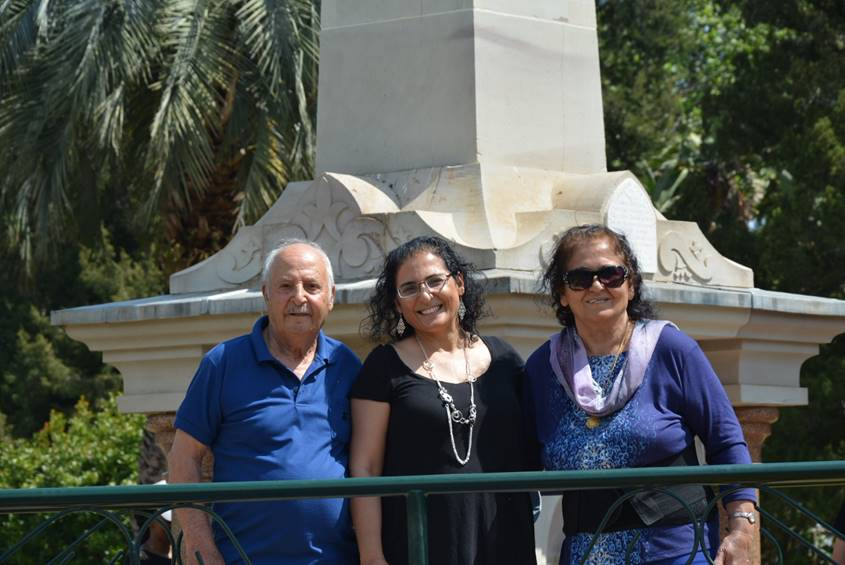 Ronit Baras with her parents
