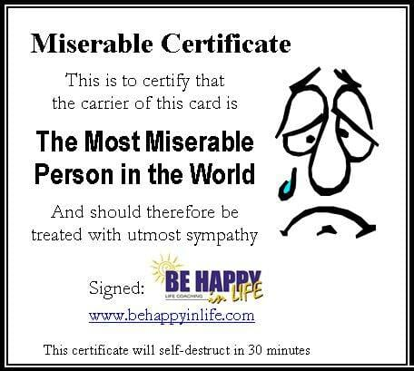 Miserable Certificate