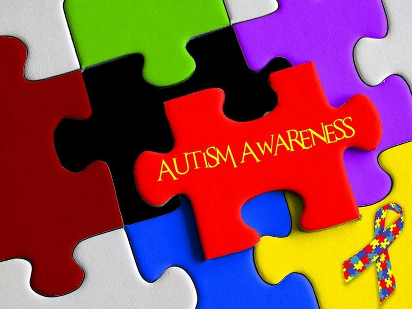 Puzzle with the writing Autism Awareness